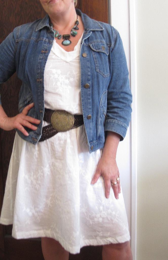 Anna Maria Horner Socialte Dress White closeup